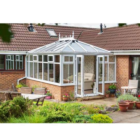 China WDMA China Product Garden Screen House Tempered Glass Sunroom Factory Price