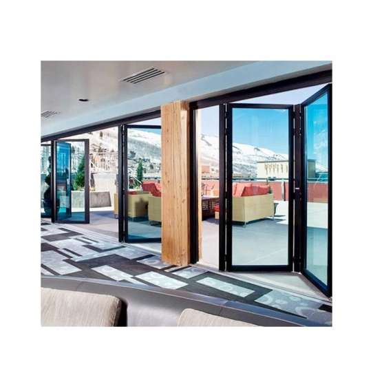China WDMA aluminium accordion bifold door Aluminum Folding Doors