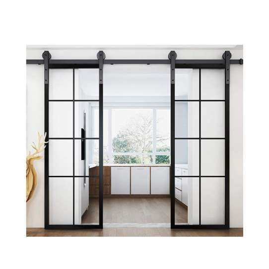 WDMA Chinese Soundproof Indoor Interior Bronze Aluminium Bathroom Sliding Glass Door System