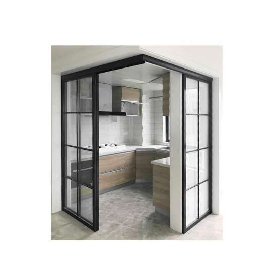 China WDMA Chinese Soundproof Indoor Interior Bronze Aluminium Bathroom Sliding Glass Door System