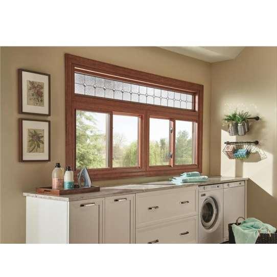 WDMA aluminum sliding window with transom window