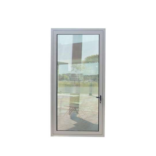 China WDMA Commercial Exterior Aluminium Single French Panel Room Front Glass Entry Door And Frame Half Glass