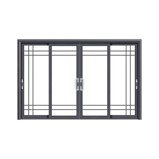 China WDMA Commercial Large Aluminium Main Entrance Sliding Toughened Glass Door Design