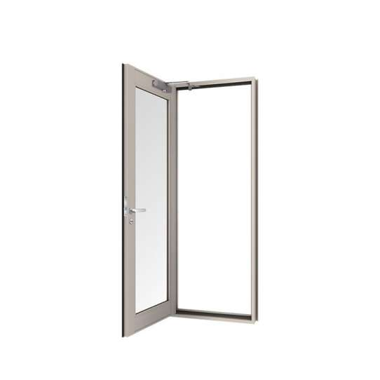 China WDMA Commercial One Way Glass Kitchen Hinged Door Design