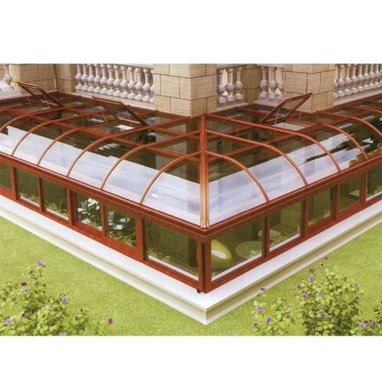 China WDMA Curved Glass Conservatory Prefabricated Sunrooms