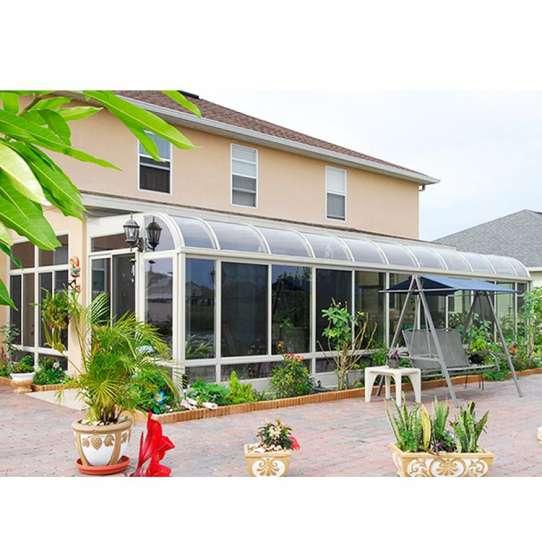 China WDMA curved glass sunrooms Aluminum Sunroom