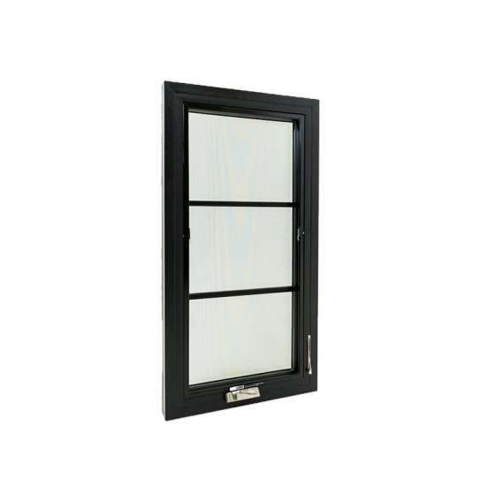China WDMA Custom Made Latest New Dark Grey General Aluminium Storm Replacing Casement Window With Glass And Grill For Mobile Home And Port
