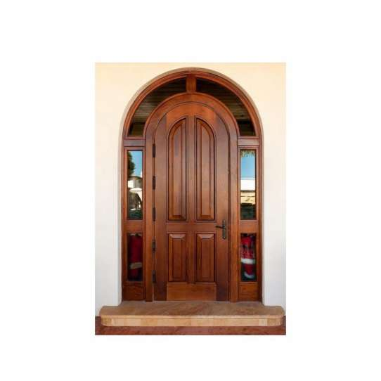 China WDMA Interior Wooden Rounded Doors