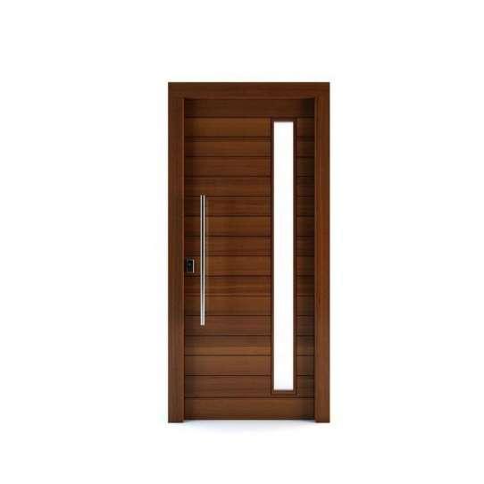 WDMA Customized Single Leaf Wooden Swing Door Glass Door For Wooden Frame