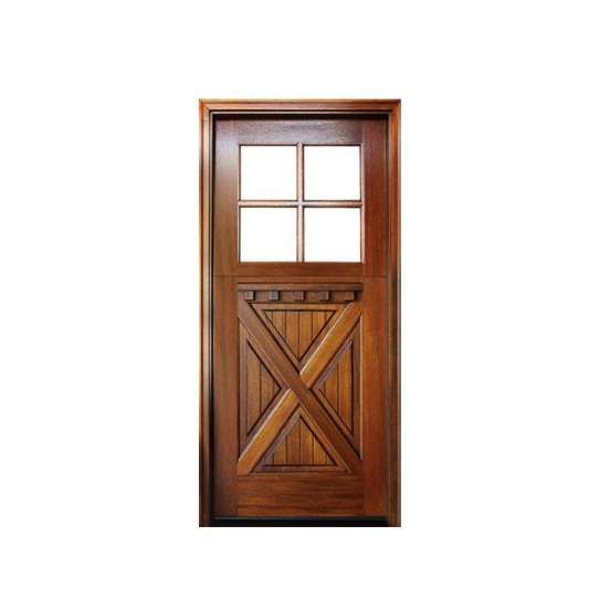 China WDMA Customized Single Leaf Wooden Swing Door Glass Door For Wooden Frame