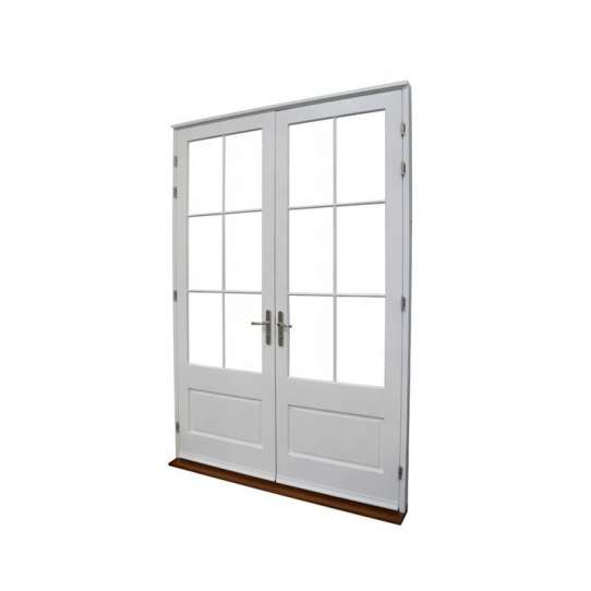 WDMA Double Leaf Wooden Entry Main Door For Entrance