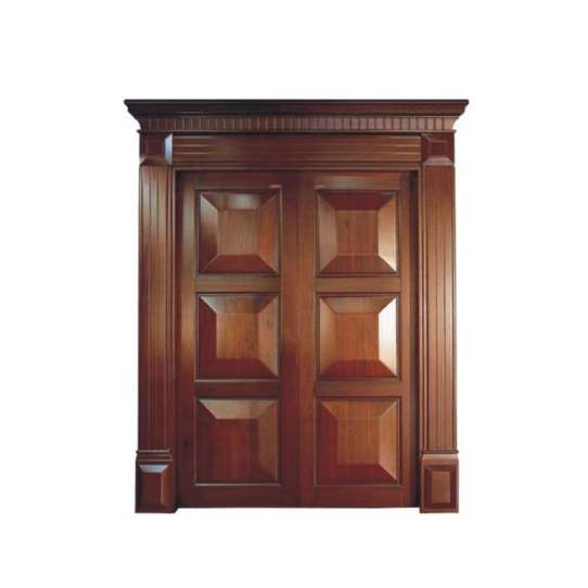 WDMA Double Leaf Wooden Entry Door