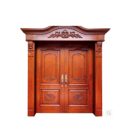WDMA Double Wooden Main Entrance Door Design
