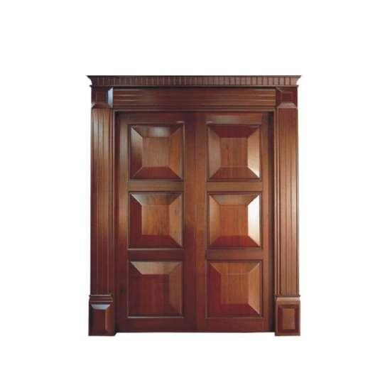 China WDMA Double Wooden Main Entrance Swing Door Design Wooden Door Turkey