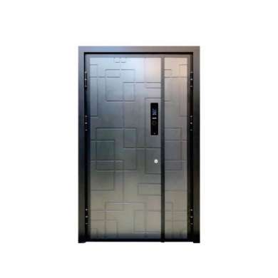 WDMA Entrance Single Leaf Aluminium Casting Steel Shop Front Swing Panel Door Specification