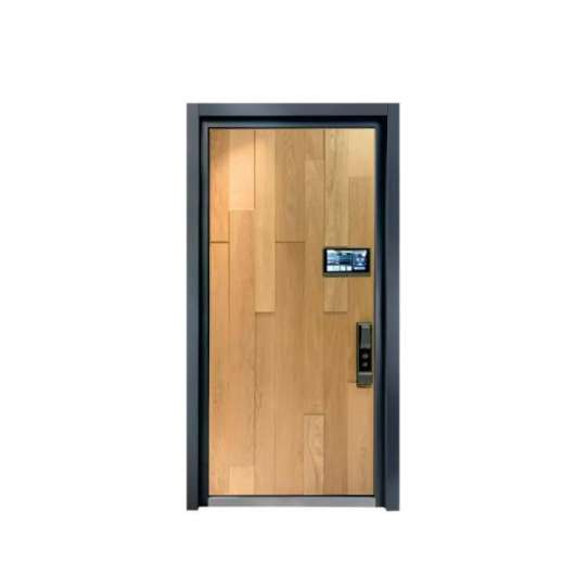 China WDMA Entrance Single Leaf Aluminium Casting Steel Shop Front Swing Panel Door Specification