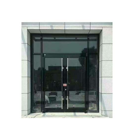 China WDMA European Style Frameless Entry Center Pivot Slides Hinges Glass Door