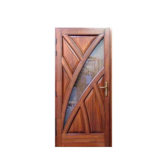 China WDMA Exotic Plywood Rosewood And Teak Wood Solid Wood Fire Front Double Sagun Door With Window Design