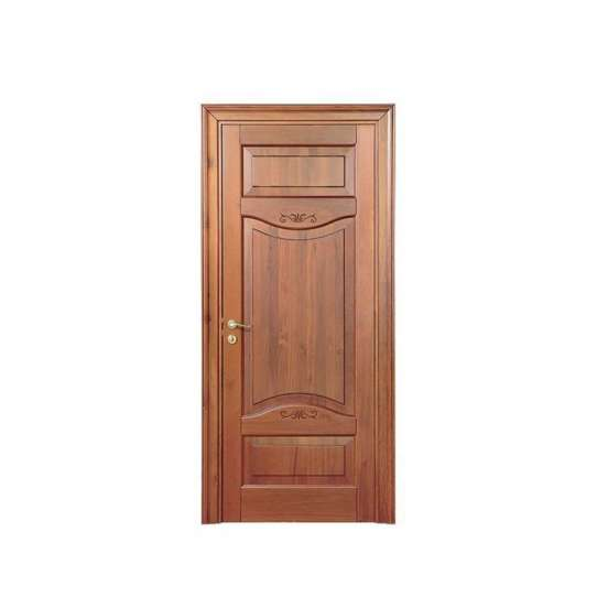 China WDMA double wood front door with glass