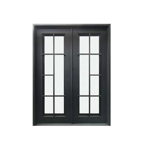 WDMA wrought iron door double Steel Door Wrought Iron Door