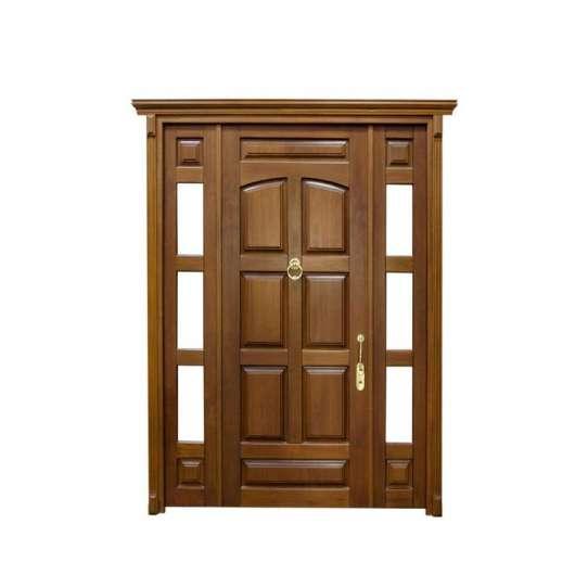 China WDMA Exterior Teak Wood Door Antique Main Door Design Models