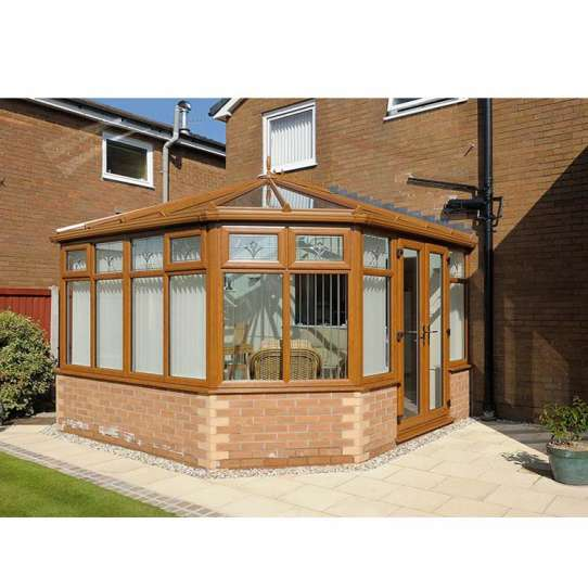 WDMA Factory Price Fashional Aluminium Frame Glass House Sunroom Kits