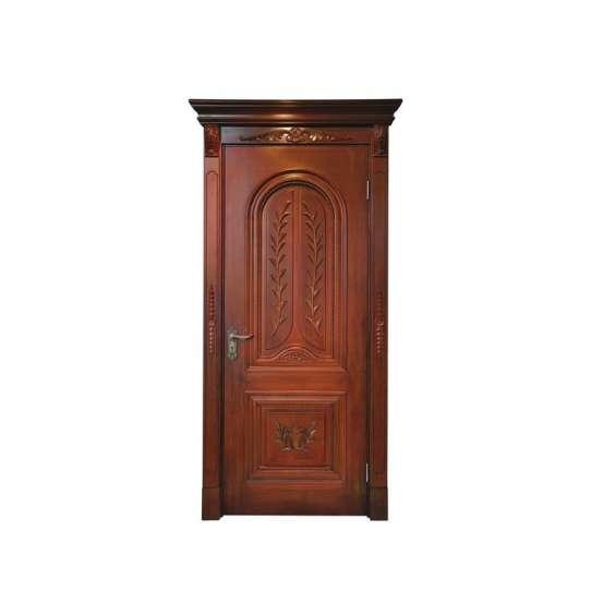 China WDMA Factory Price Fashional Internal Modern Wood Double Door Designs