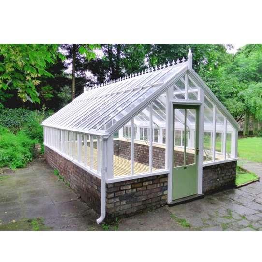 China WDMA Feelingtop Laminated Safety Glass Villa And Garden House Polygon Roof Molding Aluminum greenhouse