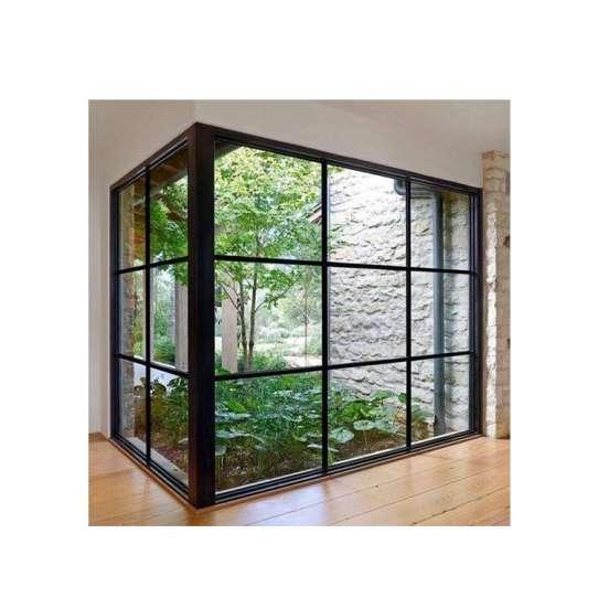 WDMA corner butt joint glass window Aluminum Fixed Window