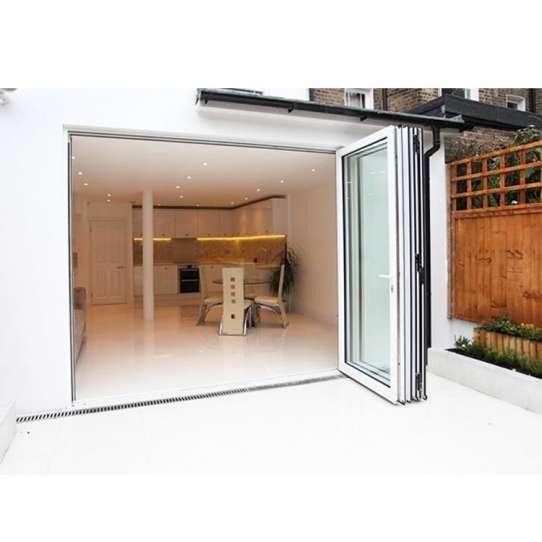 WDMA Folding Door Aluminum Frame Accordion Door For Bathroom
