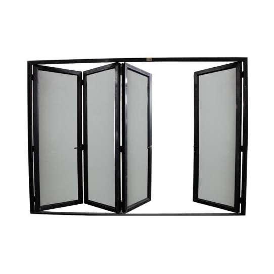 China WDMA Folding Door Aluminum Frame Accordion Door For Bathroom