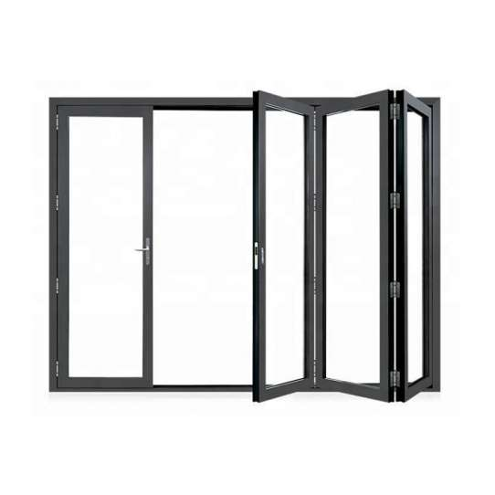 China WDMA Aluminium bi-folding door Aluminum Folding Doors