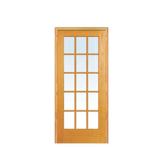 China WDMA Foreign Modern Kitchen Sold Cherry Solid Wood Interior Door With Jalousie Design For Bathroom And Stall