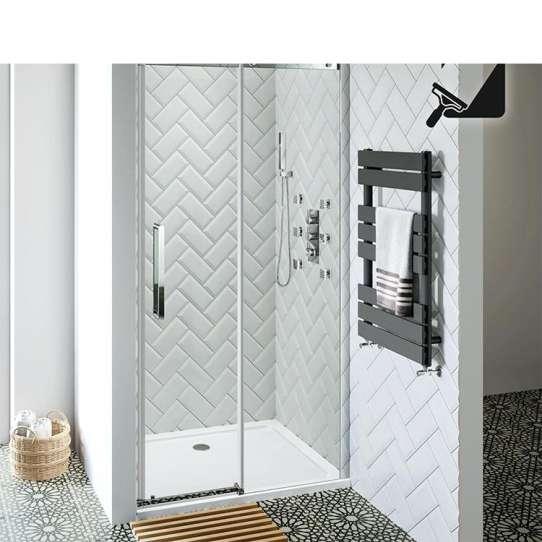 WDMA Frameless Bathroom Tempered Glass Shower Glass Sliding Door Shower Enclosureshower Room