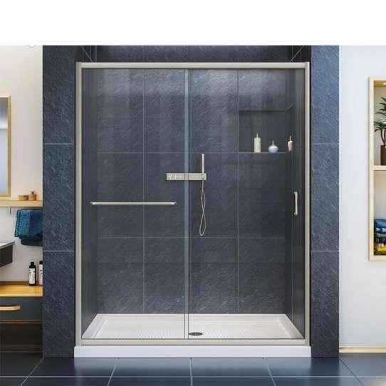 China WDMA Frameless Bathroom Tempered Glass Shower Glass Sliding Door Shower Enclosureshower Room