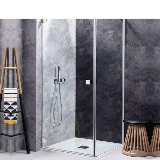 China WDMA frameless bathroom tempered glass shower door