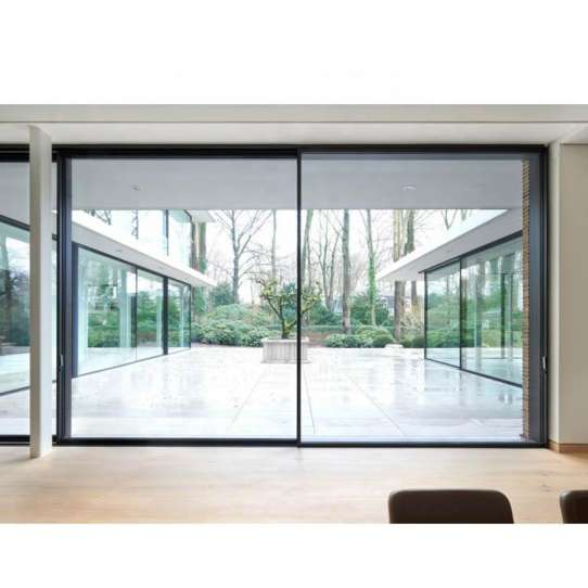 WDMA Frameless Large Glass Sliding Patio Door Exterior