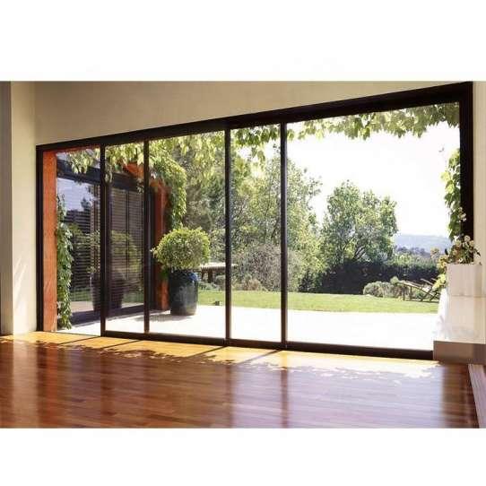 China WDMA Frameless Large Glass Sliding Patio Door Exterior