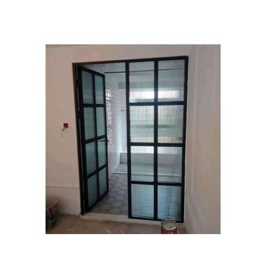 WDMA Frameless Slimline Aluminium Frame Glass French Swing Casemen Doors