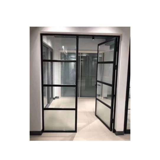WDMA Aluminum Frame Glass Swing Door