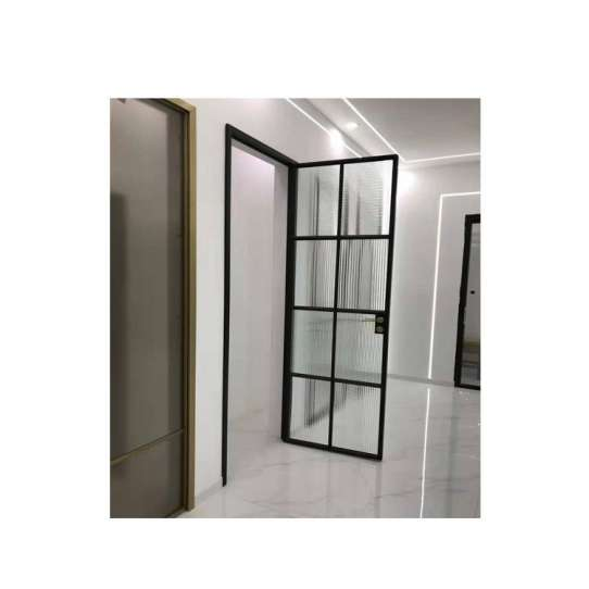 China WDMA Aluminum Frame Glass Swing Door