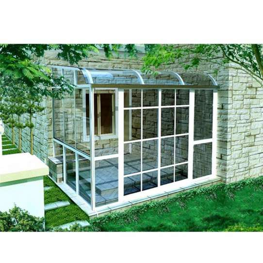 WDMA Garden Greenhouse Veranda Curved Glass Roof Sunroom