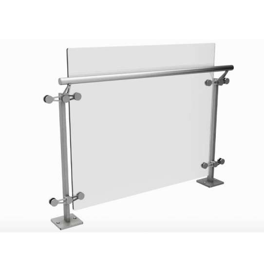 China WDMA Glass Fixing Moule Balustrade Modular Railing System Side Mount Parapet Railing Design
