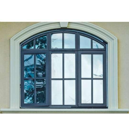 WDMA Glass Window Grill Design Wood Grain Window Arched Open Casement Window For Sales