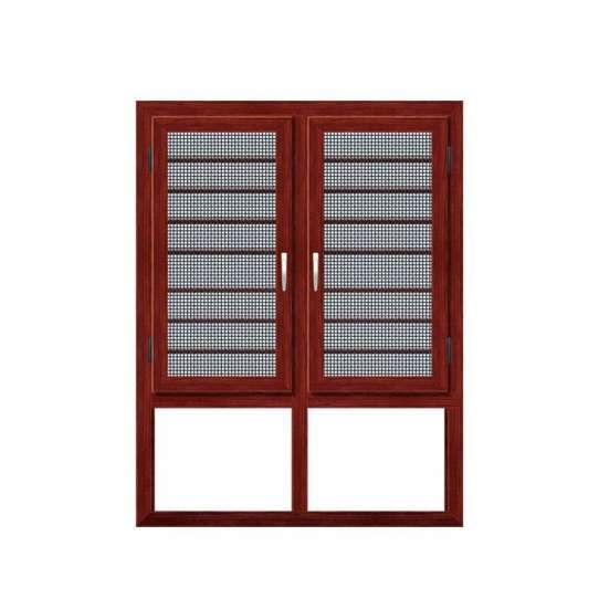 WDMA glass window wood grain window Aluminum Casement Window