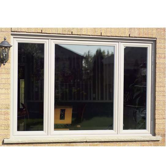 China WDMA Glass Window Grill Design Wood Grain Window Arched Open Casement Window For Sales