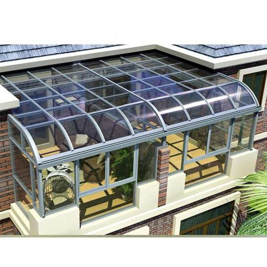 WDMA Grey Color Laminated Glass House Free Standing Sun Rooms sunroom Kit