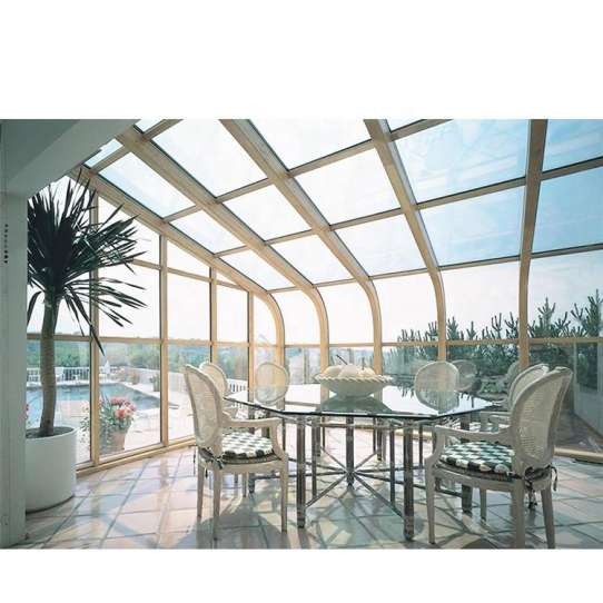 China WDMA Grey Color Laminated Glass House Free Standing Sun Rooms sunroom Kit