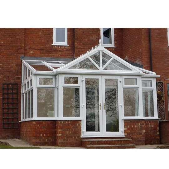 WDMA Grey Color Latest Design Prefab Glass Garden House Sunroom With Aluminum Extrusion Profile