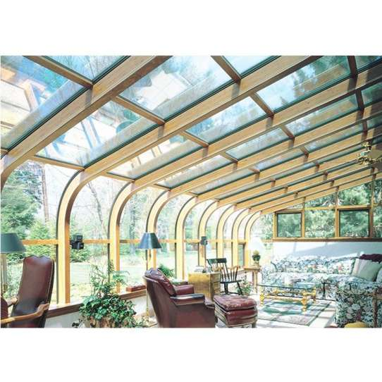 China WDMA Grey Color Latest Design Prefab Glass Garden House Sunroom With Aluminum Extrusion Profile